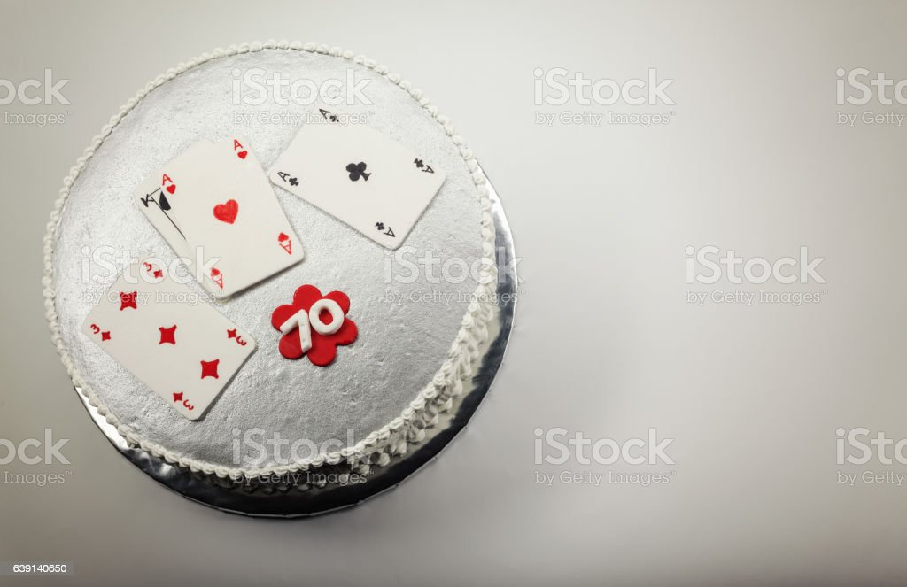 Happy 70 Birthday Cake stock photo