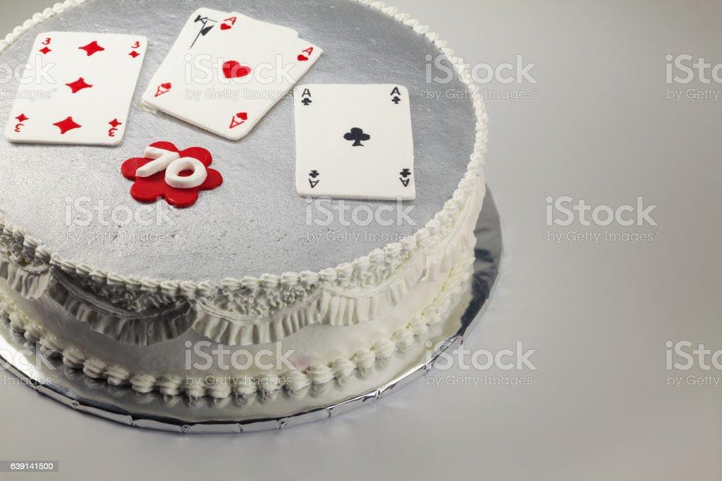 Happy 70 Birthday Cake stock photo