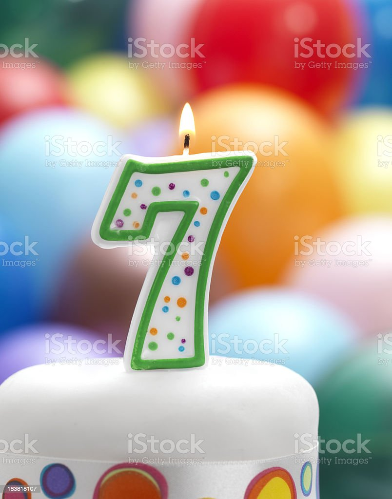 Happy 7th Birthday Royalty Free Stock Photo