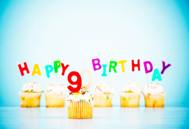 happy 90th birthday - number 90 stock photos and pictures