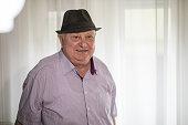 Happy 90-year-old man