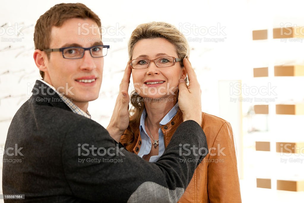happy about new eyewear royalty-free stock photo