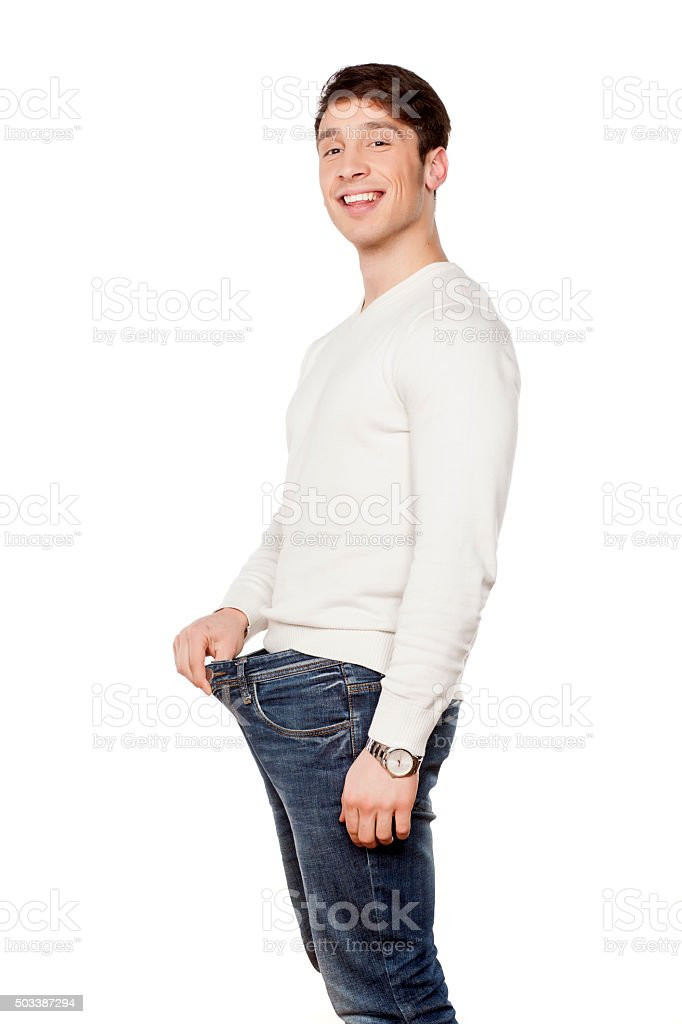 happy about the size stock photo