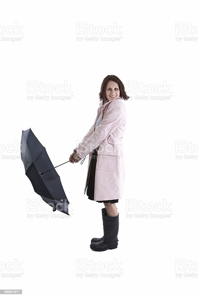 Happy About the Weather royalty-free stock photo