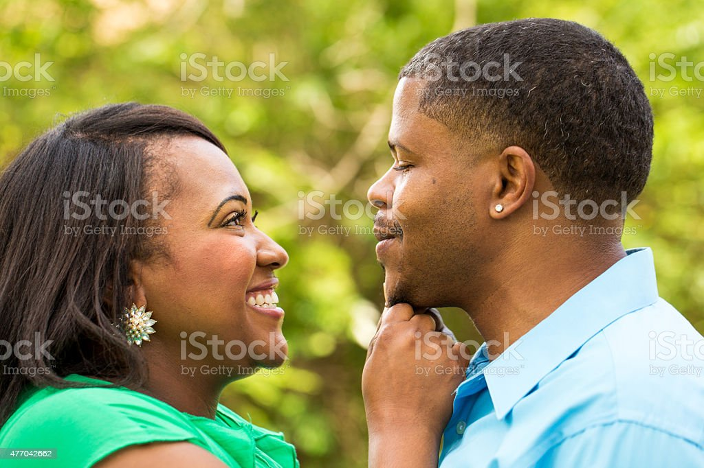Happy African American couple stock photo