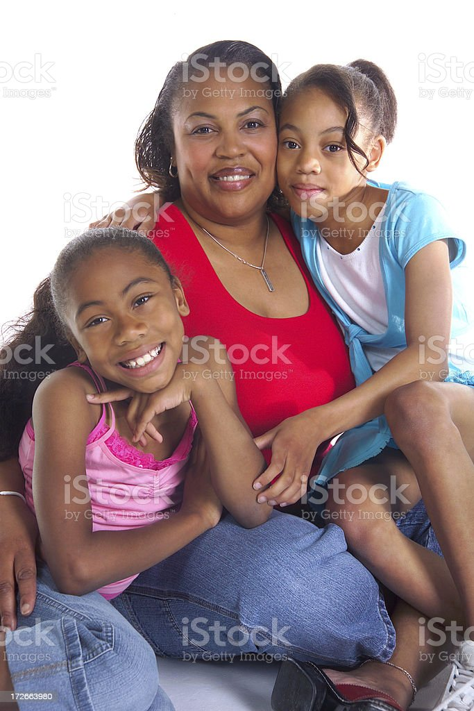 happy African American family royalty-free stock photo