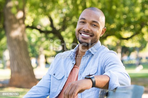istock Happy african american man 693280150
