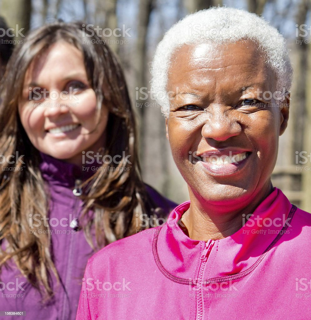 Happy African American woman royalty-free stock photo