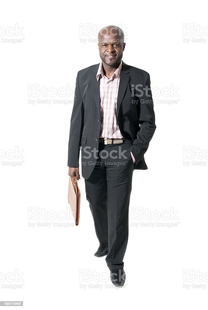 Happy african businessman smiling royalty-free stock photo