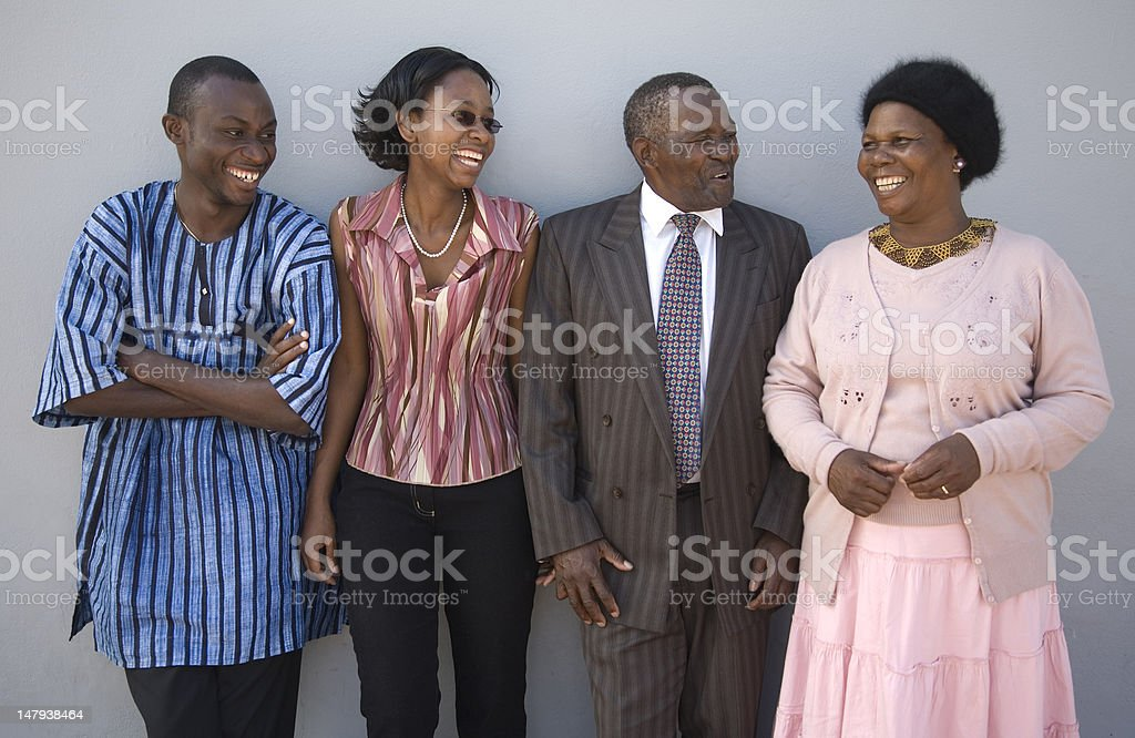 Happy African Family stock photo
