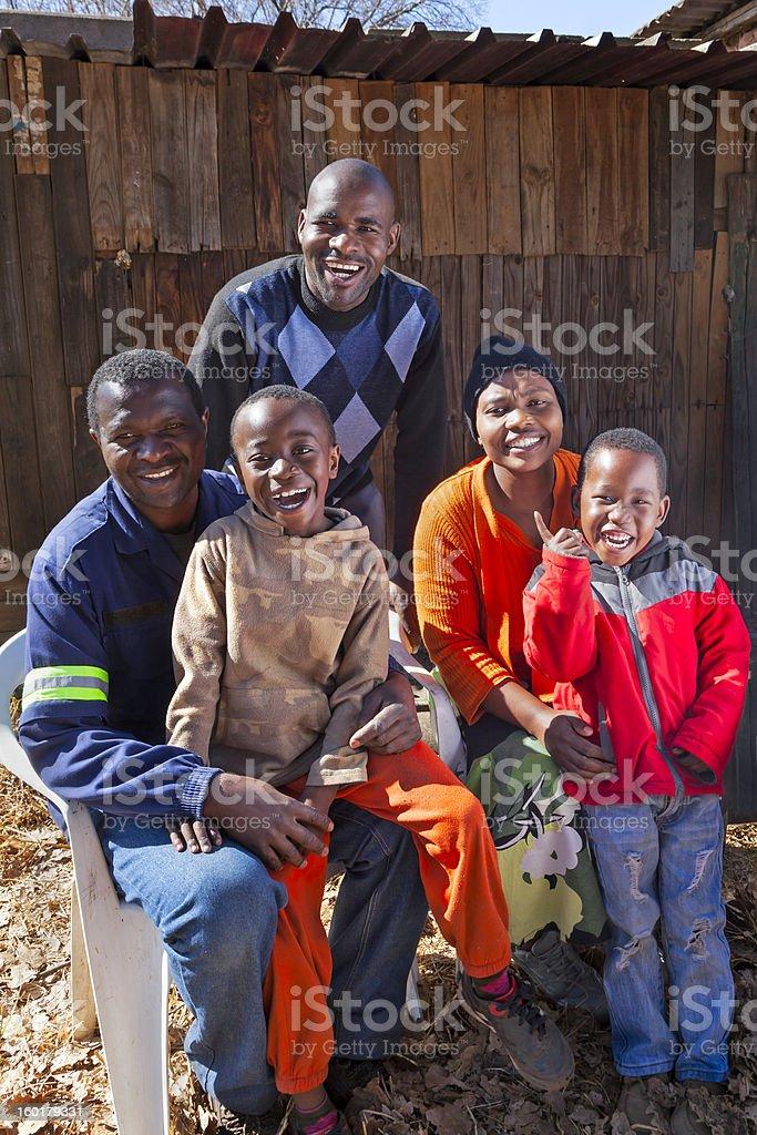Happy African Family stock photo