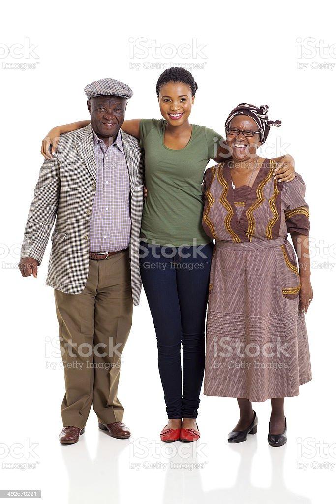 Feliz familia Afroamericana - foto de stock