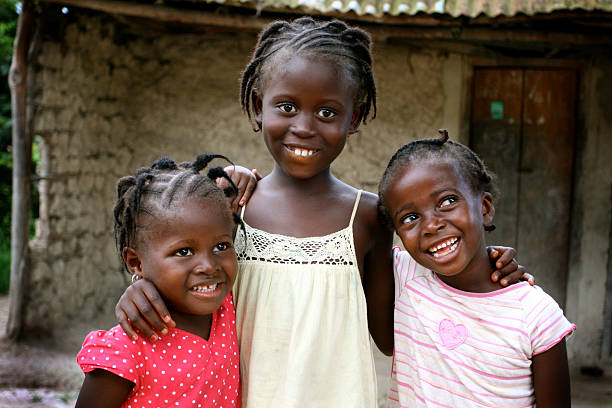 Happy African Girls  côte d'ivoire stock pictures, royalty-free photos & images