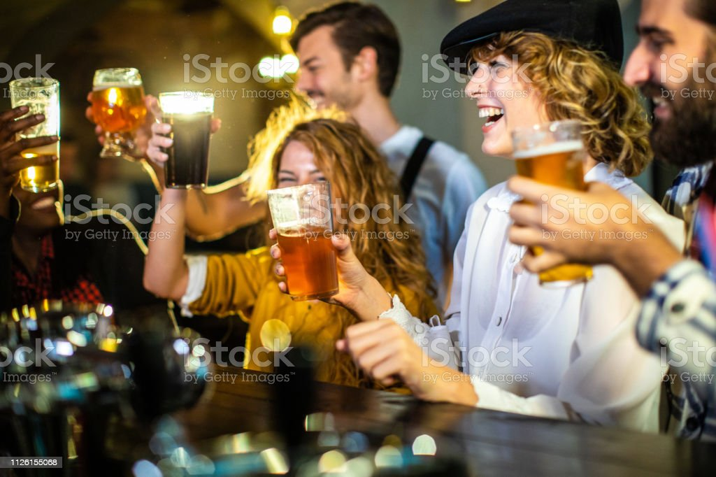 Happy After Few Beers stock photo