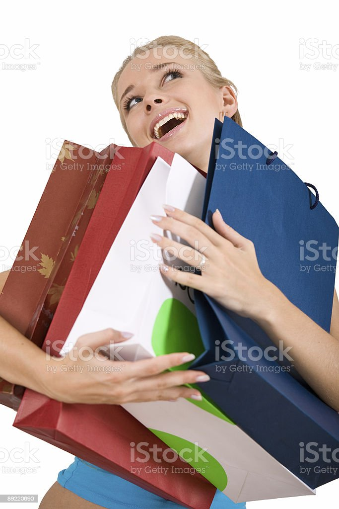Happy after shopping royalty-free stock photo