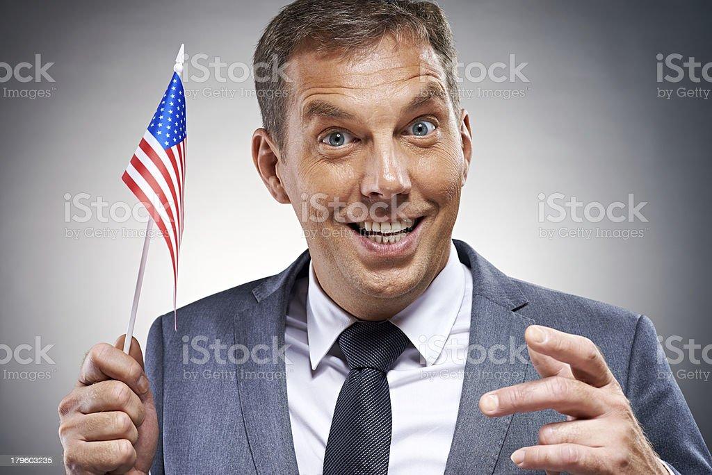 Happy American businessman royalty-free stock photo