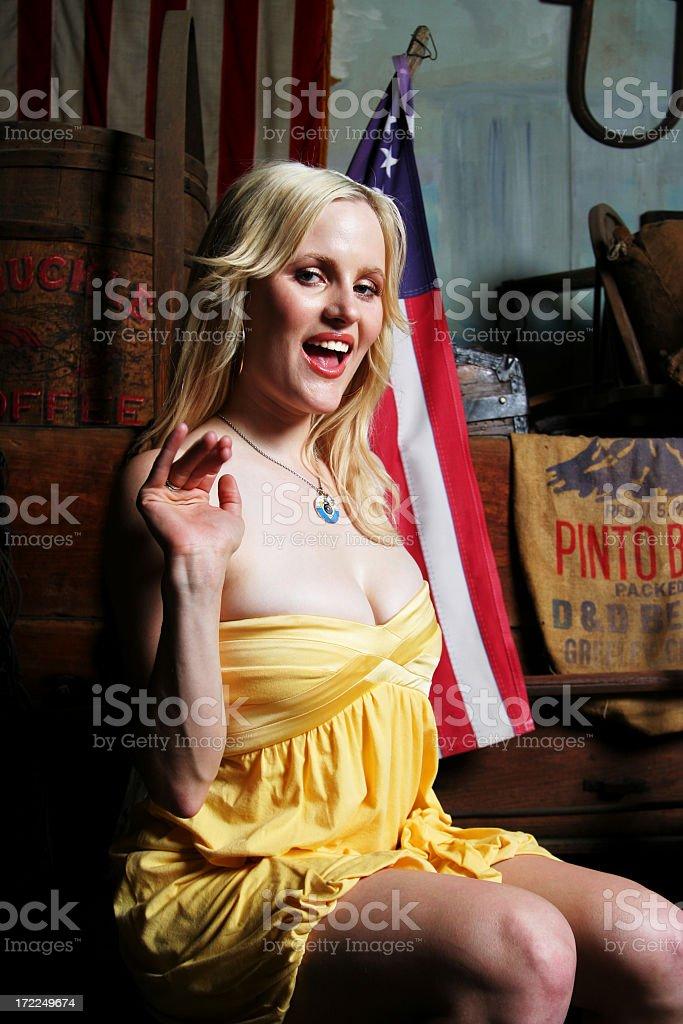 Happy American Girl stock photo