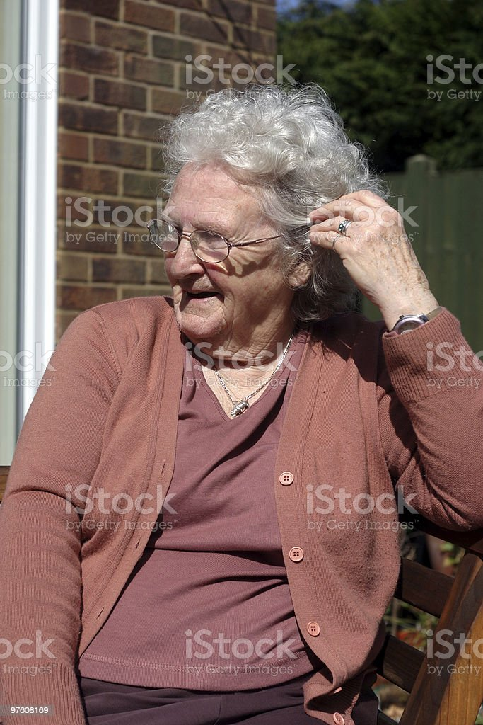 Happy and 80 years young royalty-free stock photo