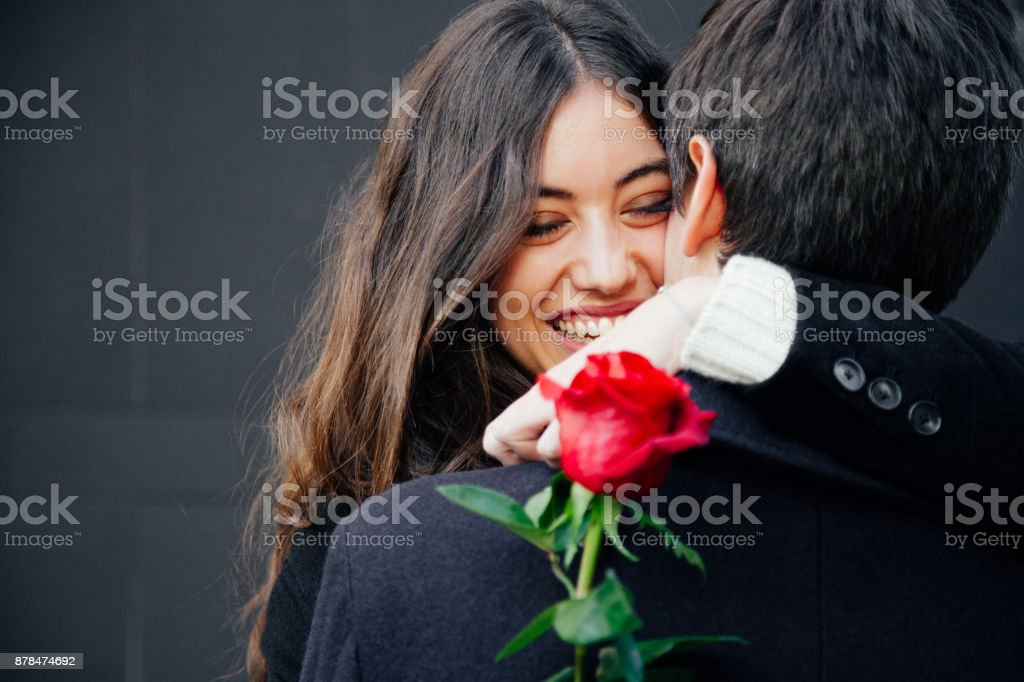 Happy and beautiful couple in love royalty-free stock photo