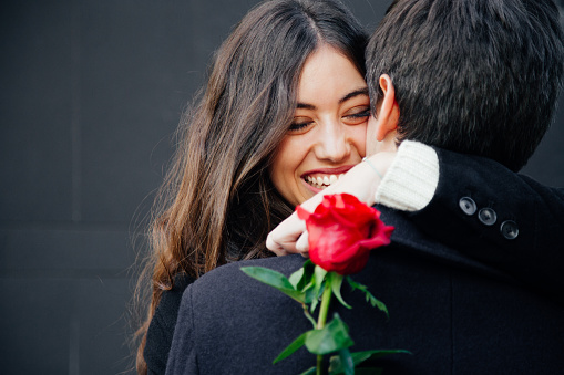 Happy and beautiful couple in love