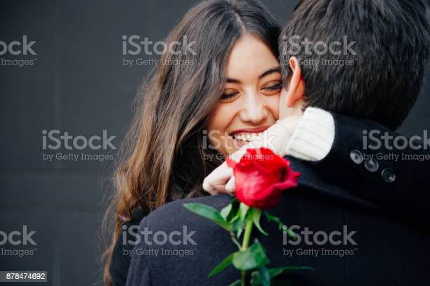 Photo of Happy and beautiful couple in love