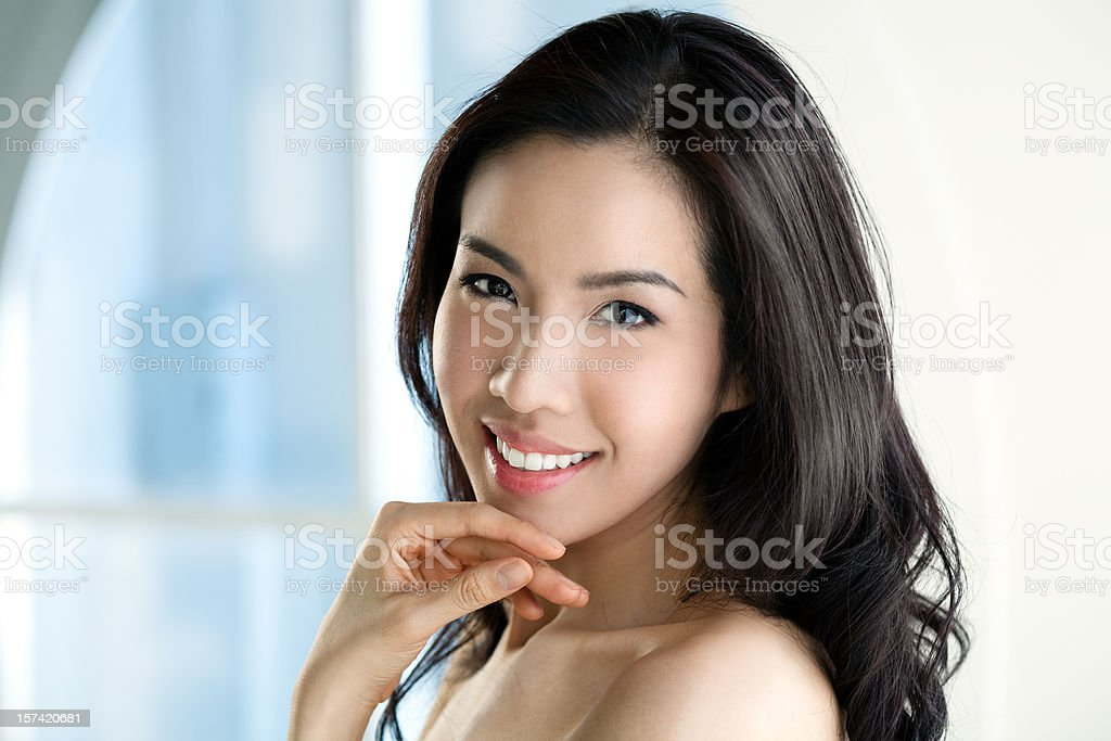Happy and Beautiful royalty-free stock photo