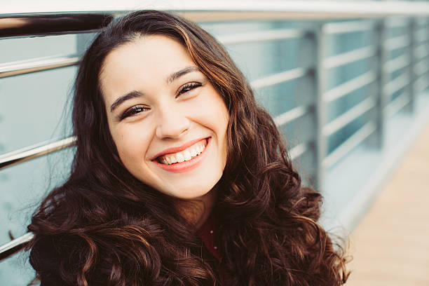 happy and beautiful young woman laughing - beautiful curvy girls stock photos and pictures