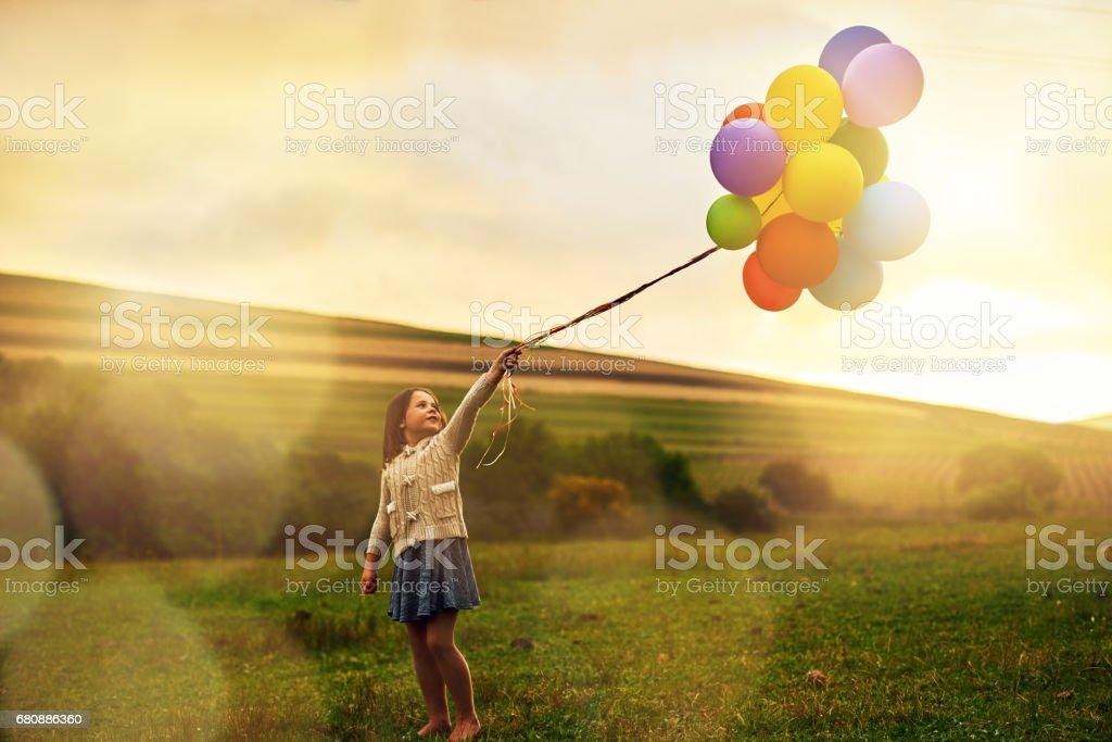Happy and bright royalty-free stock photo