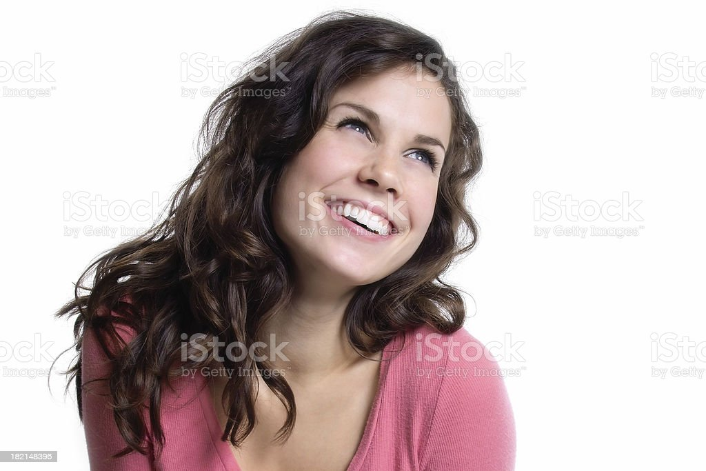 Happy and Bright Young Woman stock photo