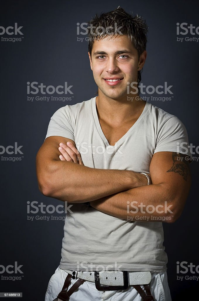 Happy and confident handsome young man royalty-free stock photo