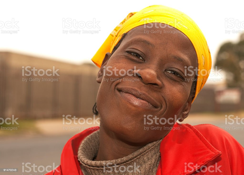Happy and Content African Lady royalty-free stock photo