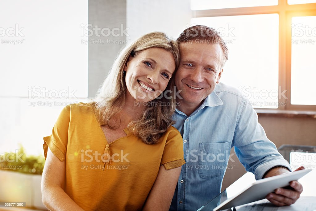 Happy and financially secure stock photo