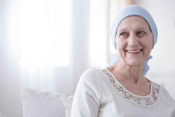 happy and hopeful cancer patient - cancer patient stock pictures, royalty-free photos & images