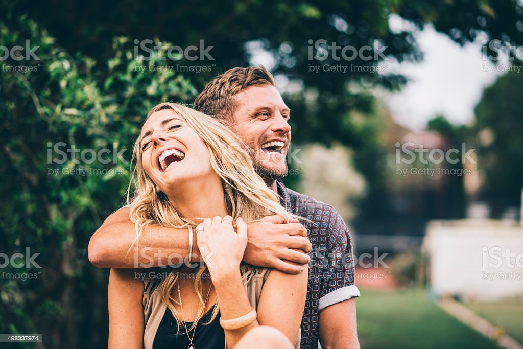 Happy and in love stock photo