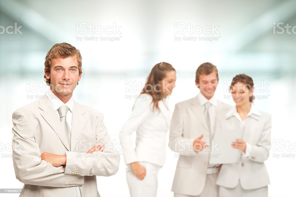 happy and positive business team bright portrait royalty-free stock photo