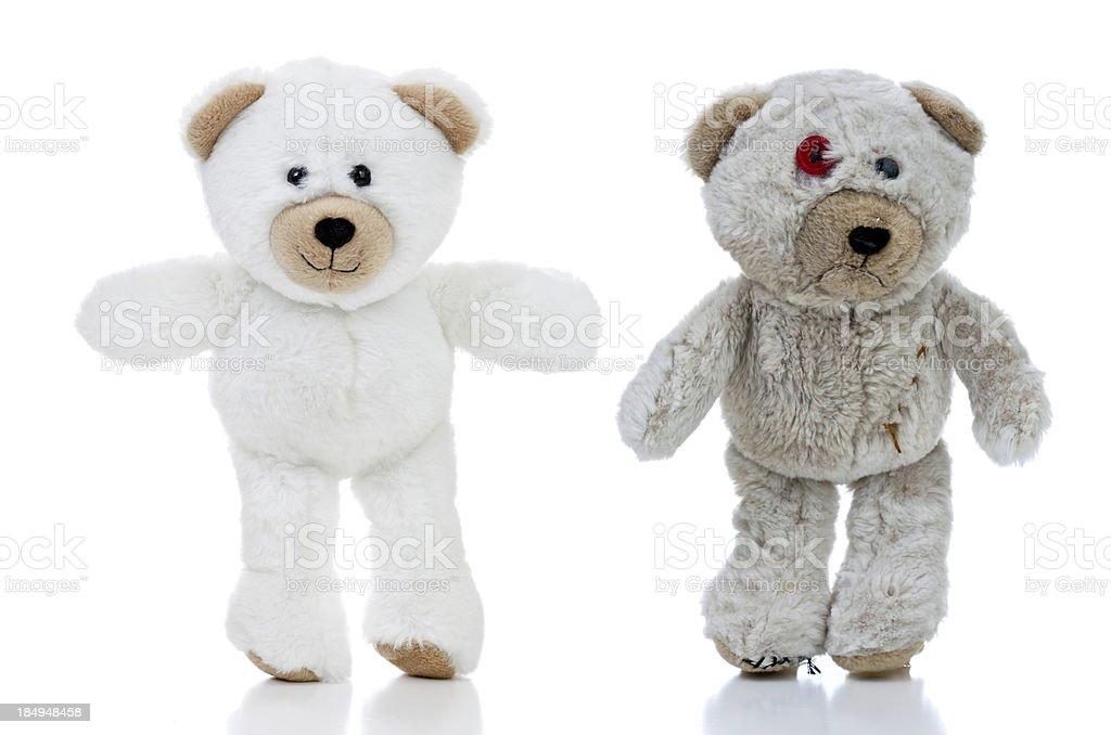 Happy and Sad Bears royalty-free stock photo