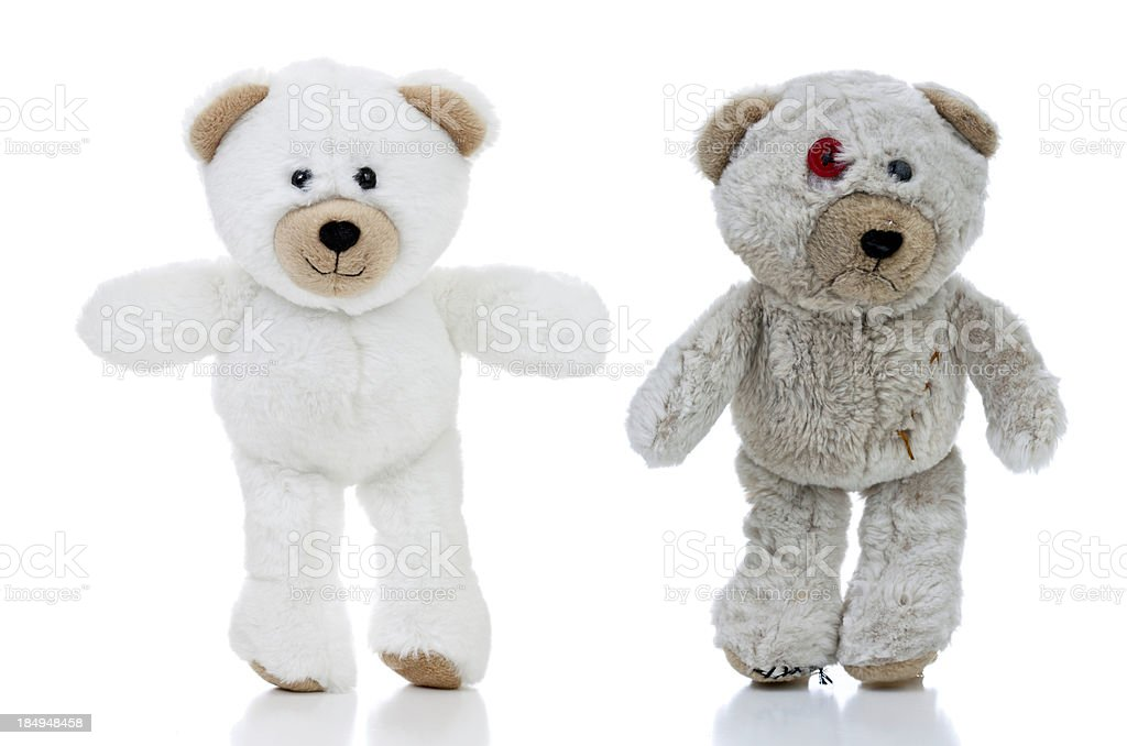 Happy and Sad Bears stock photo