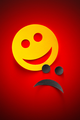 Happy And Sad Emoji Smiley Faces Stock Photo Download Image Now Istock