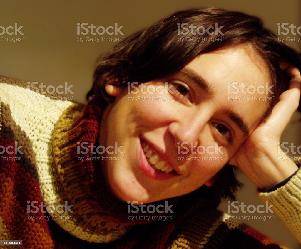 Happy and smiling royalty-free stock photo