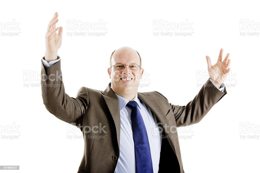 Happy and successful business man royalty-free stock photo