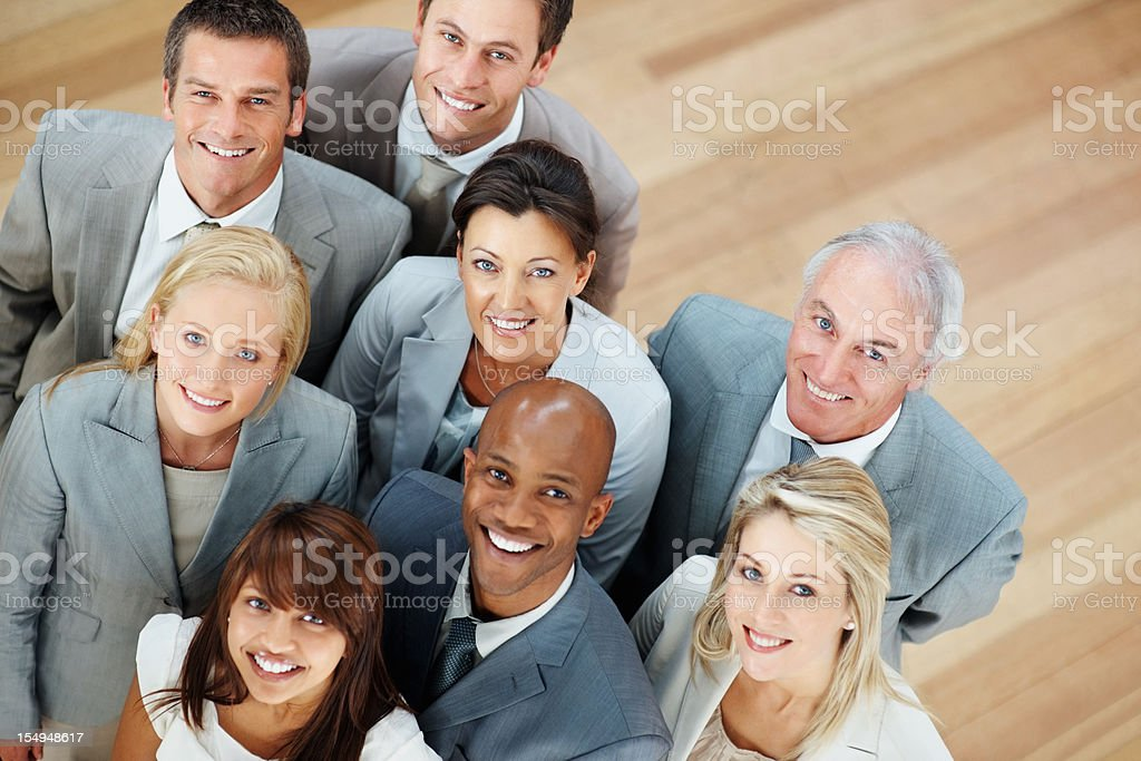 Happy and successful business team royalty-free stock photo