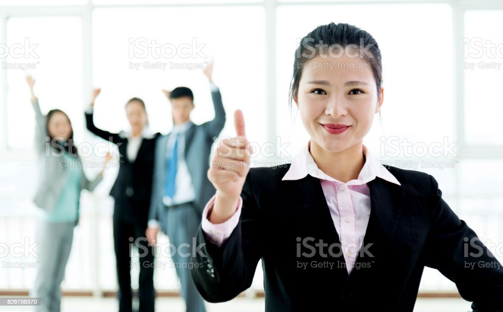Happy and successful team stock photo