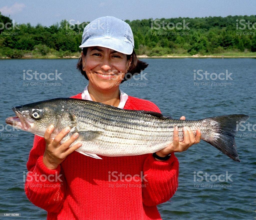 Happy Angler stock photo