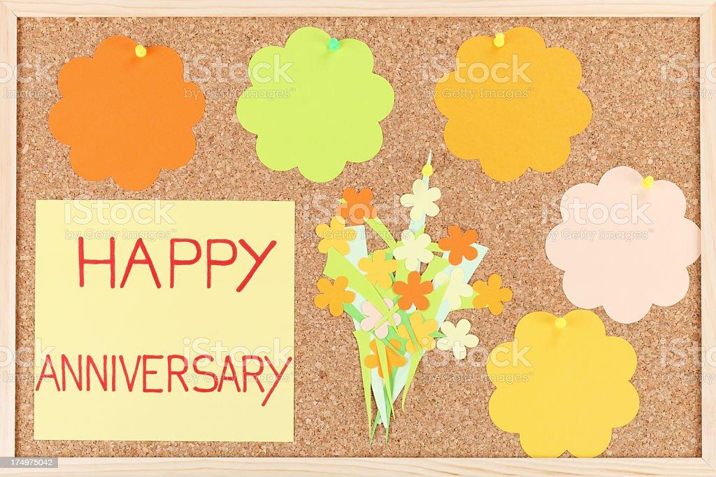 Happy anniversary royalty-free stock photo