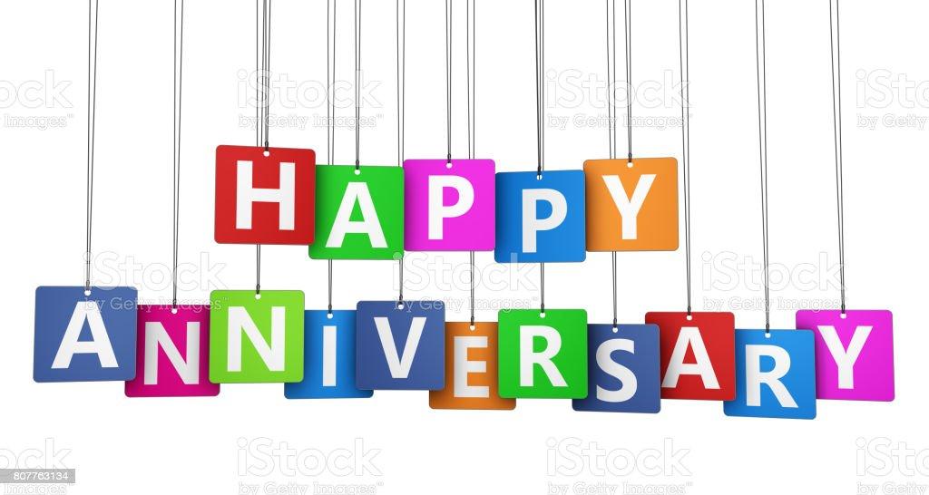 Happy Anniversary - Royaltyfri Banderoll Bildbanksbilder