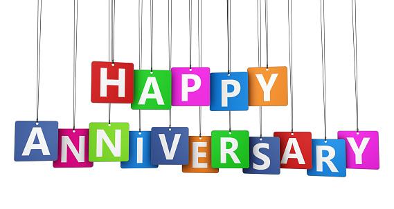 Happy Anniversary-foton och fler bilder på Banderoll