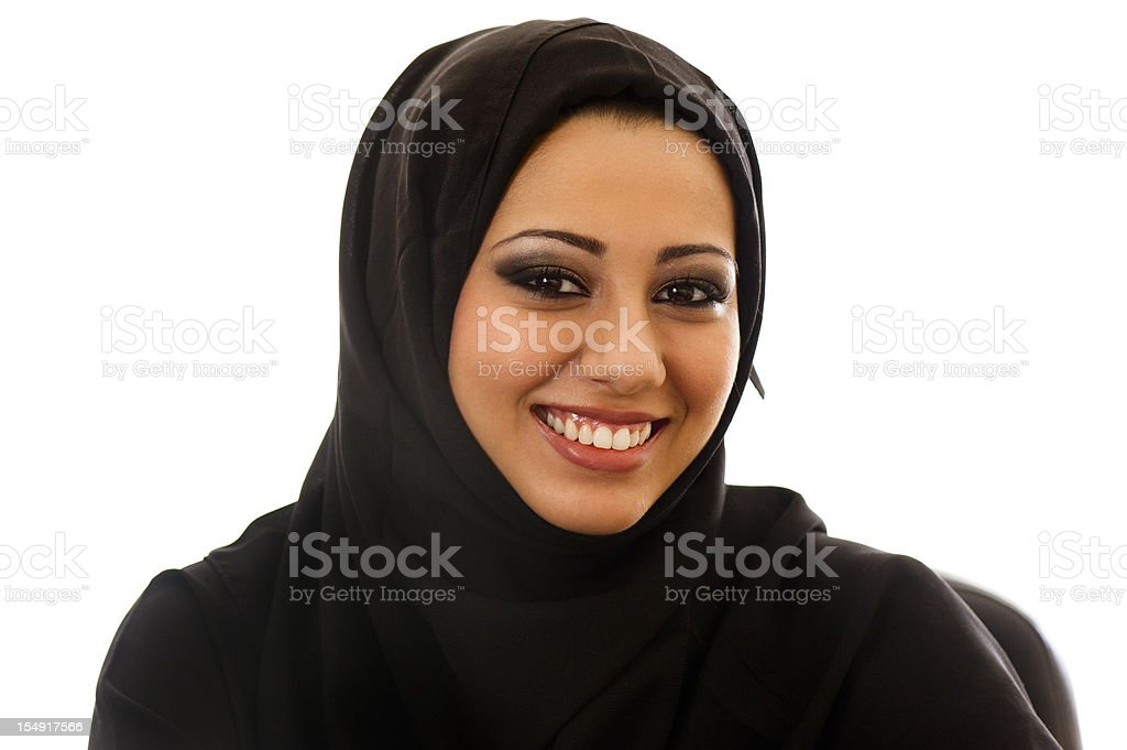 Happy Arabic girl stock photo