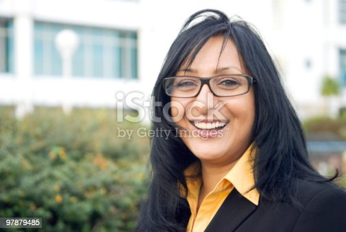 istock A happy asian businesswoman with black hair and a glasses 97879485