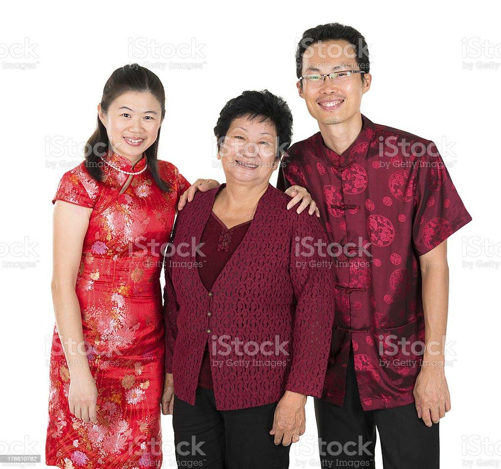 Happy Asian Chinese family stock photo