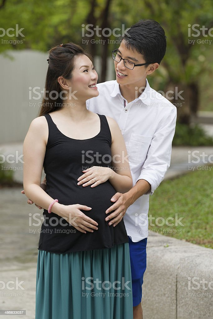 Happy Asian Couple royalty-free stock photo